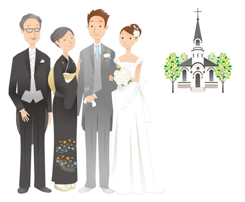 結婚式は厳かに華やかに